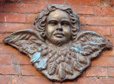metal angel figurine object