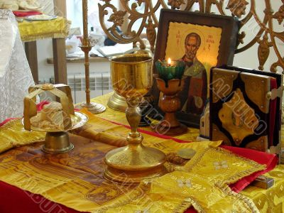 Sacred Participle objects of orthodox church