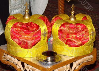 Two Orthodox Wedding Ceremonial Crowns