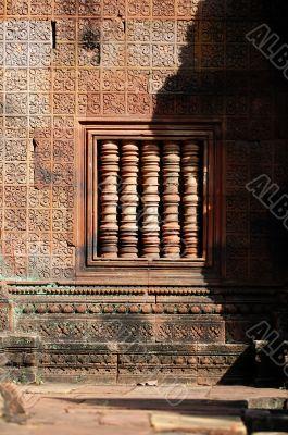 Window decor in buddhist temple