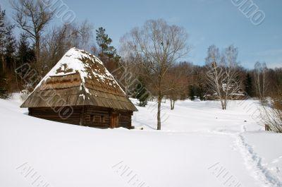 Winter countryside scenic