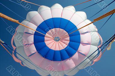 bright parachute canopy