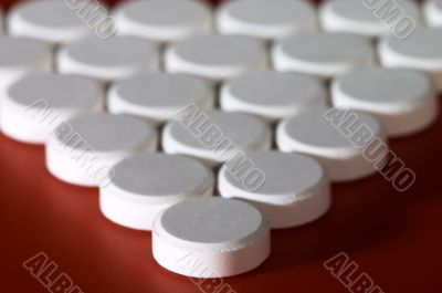 Macro photo of pills