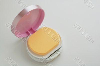 The facepowder, vanity case