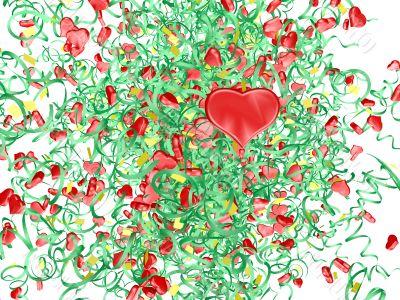 hearts firework