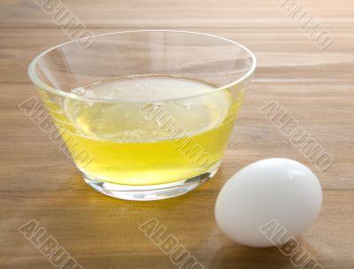 raw egg whites with whole egg