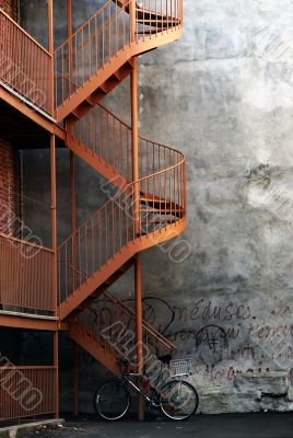 Bike and a stairway