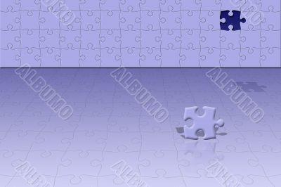 Conceptual puzzle scene