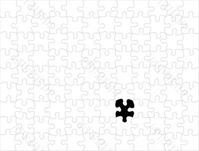 White Puzzle background