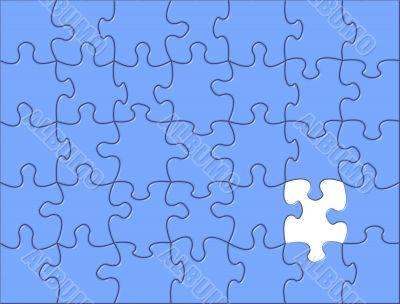 Blue Puzzle background