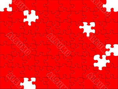 Red Puzzle background