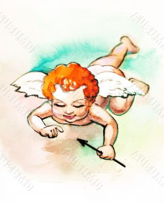 Small cupid with arrow