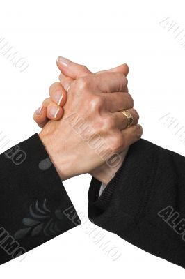 business deal - female hands