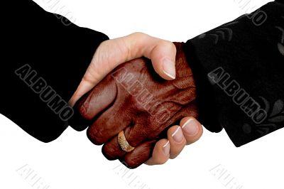 business deal - multiracial