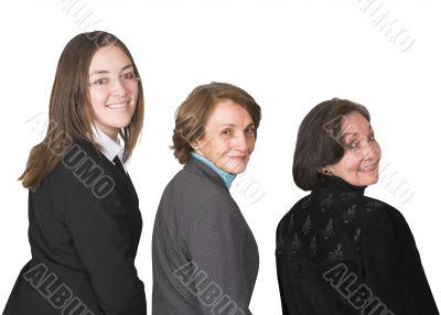 business female management team smiling