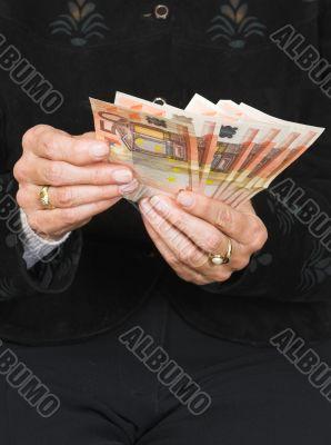 euros over black