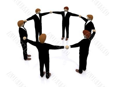 business teamwork 3d illustration