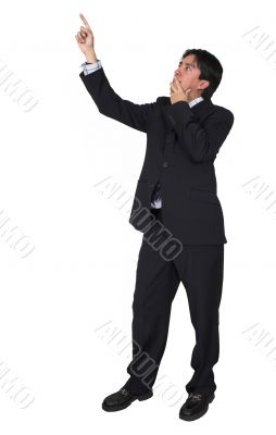 business man pointing - full body