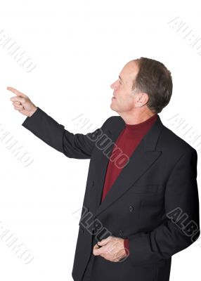 Business man pointing in presentation
