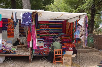 Market Booth with Textiles