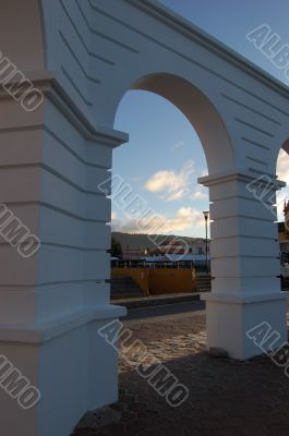 Arches in a Monument in Chiapas, Mexico