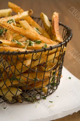 Home cut french fries
