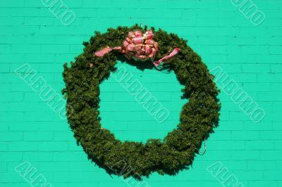 Wreath on Green