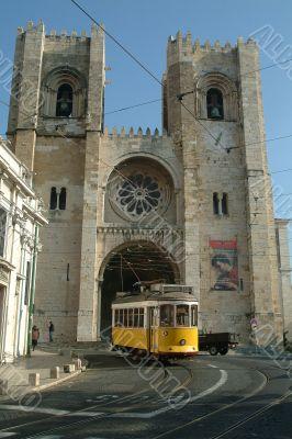tramway in street
