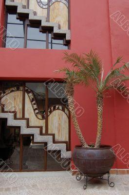 Hotel Courtyard in Chiapas, Mexico