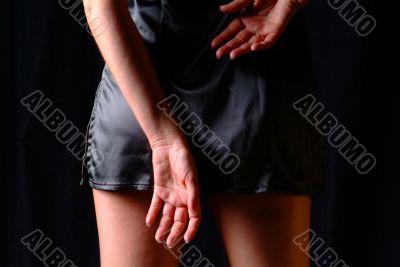 hands on back