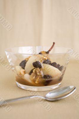 Pear Rum Raisin Dessert