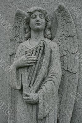harp playing angel