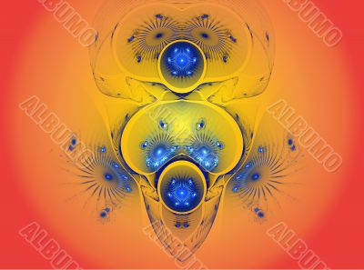 The abstract color fractal image