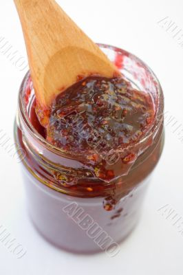Raspberry Jam, Jelly or Preserves Jar
