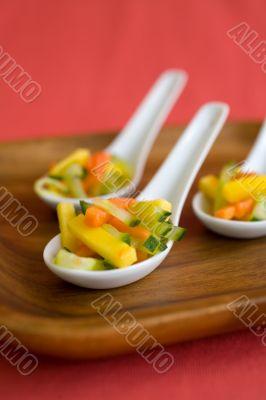 Amuse Bouche mango papaya cucumber
