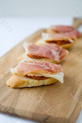 Tapas ham and cheese