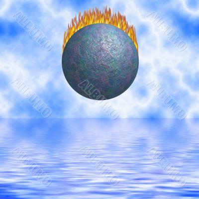 Burning Comet Falling