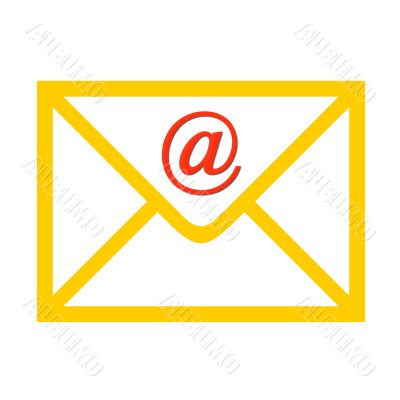 Envelope with email symbol