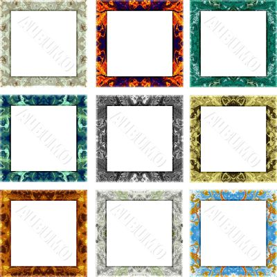 Textured picture frames