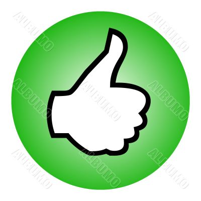 Thumbs up sphere