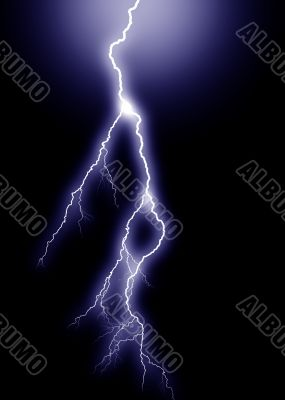 Blue Lightning, vertical from above