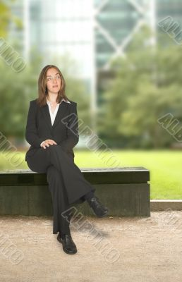 business woman in corporate environment