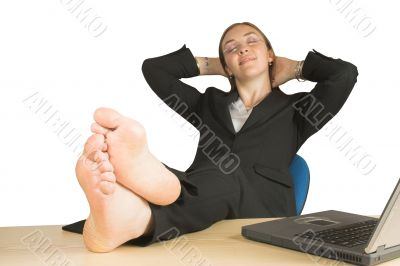 business relaxation - feet up