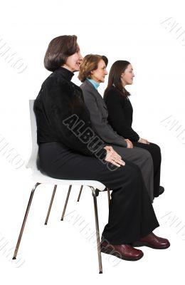 business female management team