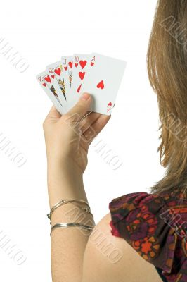 play your cards right - casual woman