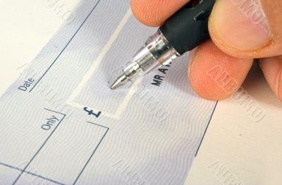 cheque signature