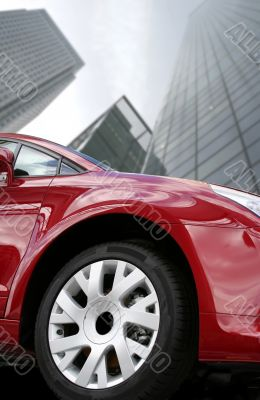 red car - corporate environment
