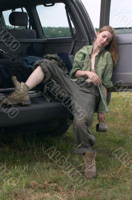 hunter girl sleeping