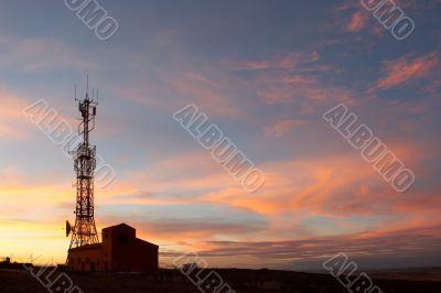 Communication tower showing antennas