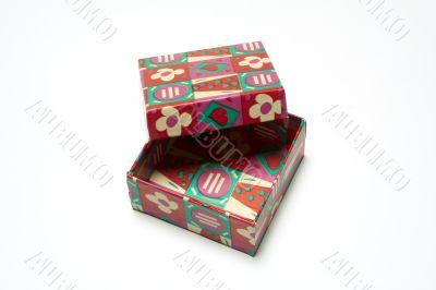 color gift empty box